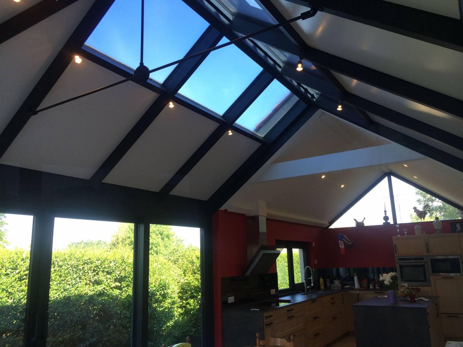 Veranda Puit De Lumiere véranda avec toiture à double pente - modèle grenat - bourg