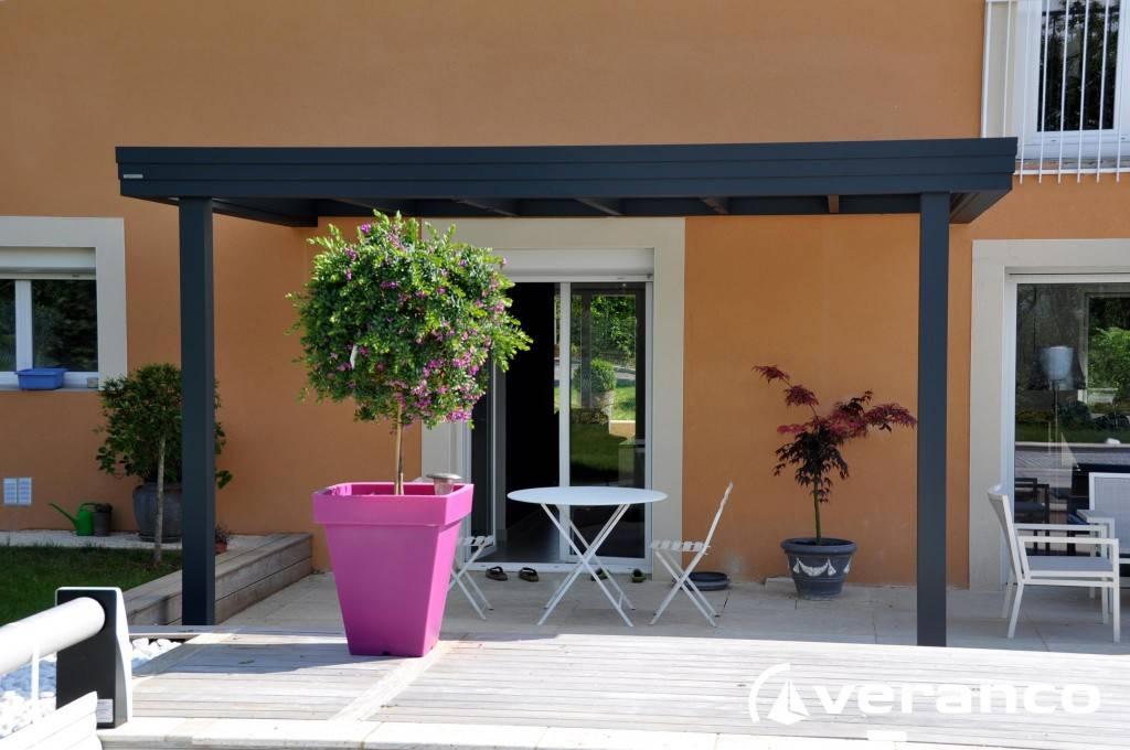 la pergola toiture plate mod le jade bourg en bresse v randas heinrich. Black Bedroom Furniture Sets. Home Design Ideas