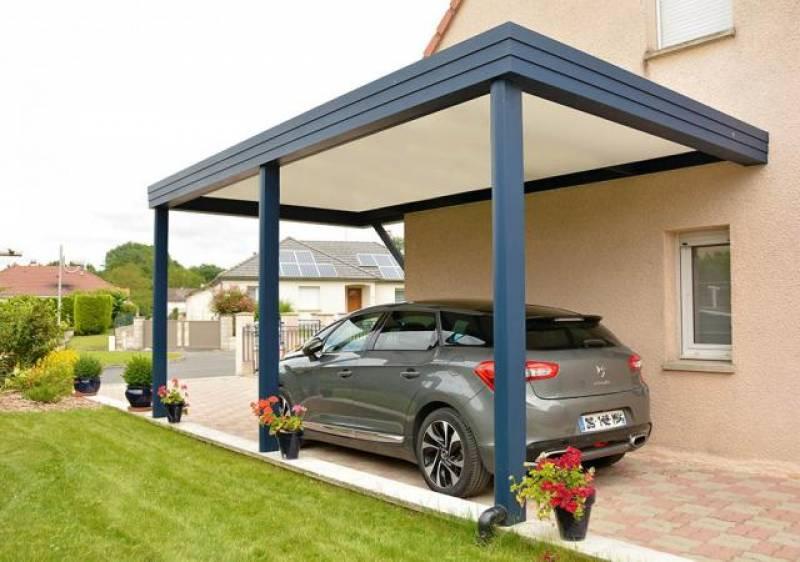 Installation d 39 abri de voiture ou jardin bourg en bresse for Garage ad la bresse